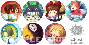 Ghibli Button Set by ridekasama
