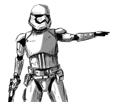 Stormtrooper Sketch by SaraMFDraws