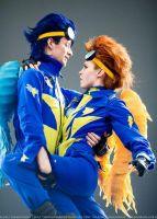 Spitfire and Soarin - Wonderbolts cosplay by Dixidana