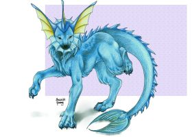 Vaporeon_The_King by MroczniaK