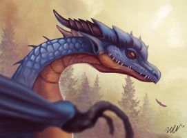 Dragon face by cicakkia