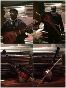 Six-String Samurai Custom Action Figure Pic Set 2 by GeekWithClip-Ons