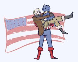 The Captain and his America by morgana007