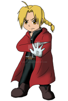 Chibi Edward Elric + Speedpaint by msVuonis