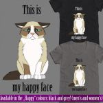 T-Shirt Design: Happy Face by CheetagonZita