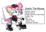 Sonic oc Gothic The Mouse by skyshek