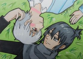 Nezumi and Shion ACEO by LadyNin-Chan