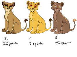 Adoptable Cubs Batch by JessiRenee