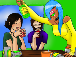 Drunk Triforce by ToriFlame