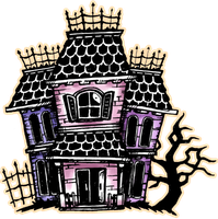 Drawlloween 2014, day 6- Haunted House by darksilvania