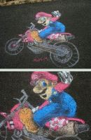 Mario Sidewalk Chalk by mattmcmanis