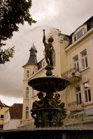Statue engel am brunnen by archaeopteryx-stocks