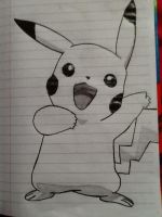 Pikachu from Pokemon by artisticdreamer123
