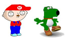 mario stewie and yoshi bryan by nothingspecial1997
