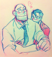 Necktie couple by Gwajang