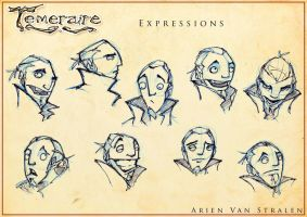 Temeraire expression sheet by therealarien
