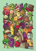 Food Fight by recycledwax