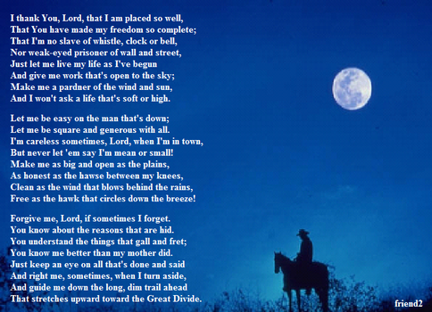 Cowboy's Prayer by friend2splace