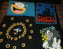 Four Awesome Sonic Shirts by SEGAMew
