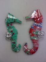 Soda Can Seahorses by ghost-skittles