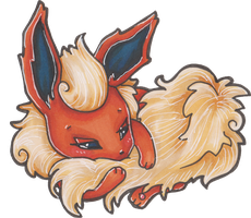 COPIC: Flareon by LaGunn