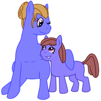 Blueberry Muffin and Plucky by rainbowpanda101