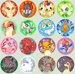 Pokemon Pop Art Buttons by Jiayi