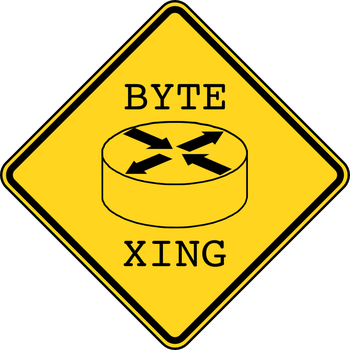 Byte Warning Crossing Sign by meropx