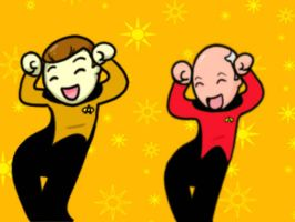 Caramelldansen Data and Picard by Mythtress