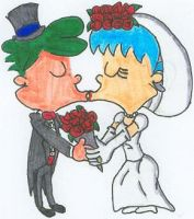 Henry and June's Wedding Kiss by nintendomaximus