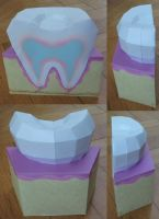 Tooth model papercraft by minidelirium