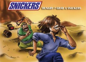 snickers ad storyboard 6 by kwee85