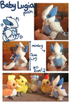 Baby Lugia plush by scilk