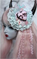 Wonderland Chocolate Headdress by Sarqq