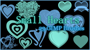 GIMP Small Hearts by Illyera