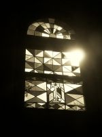 Stained Glass Window in Sepia by gwalcheved