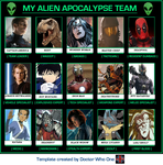 My Alien Apocalypse Team: The Guardians by WOLFBLADE111