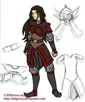 ATLA - OC: Karu in Armor by elfgrove