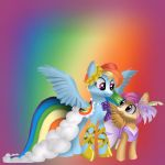 Rainbowdash and Scootaloo off to the gala by CandieMlp