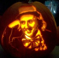 Gene Wilder as Willy Wonka by pumpkinsbylisa