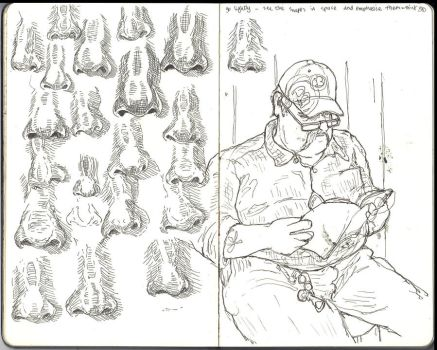 Sketchbool - fat bloke in the waiting room by keiross
