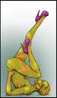 Drell pin-up by Megume