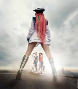 Air Gear sunset by Salvarion