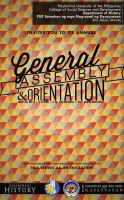 General Assembly and Orientation 2014 Poster by darkchronix95