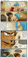 DBZ - Vegebul - Mothers Day - Comic by RedViolett