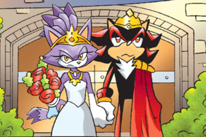 King Shadow and Queen Blaze by HyperShadow92
