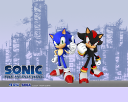Sonic And Shadow Wallpaper by LukeVei-Da-Hedgehog