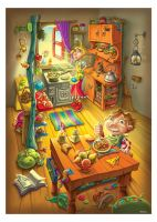 Coneboy the kitchen by thewicky