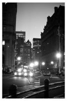 Manhattan street lights by artgyrl