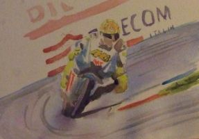 Rossi water colour by meeart
